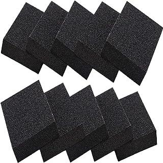 Qovydx 10 Pack Carborundum Sponges Elite Emery Sponge Pots Cleaning Pads Carborundum Brush Rust Sand Scrubbers for Kitchen...