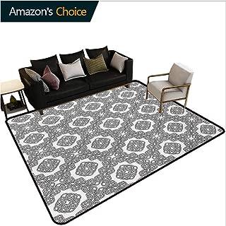Celtic Print Area Rug Modern, Geometric Diagonal Symmetrical Binding Celtic Cross Knots Motif Retro Illustration Durable Carpet Area rug - Living Dinning Room Bedroom Rugs and Carpets, (3'x 8')