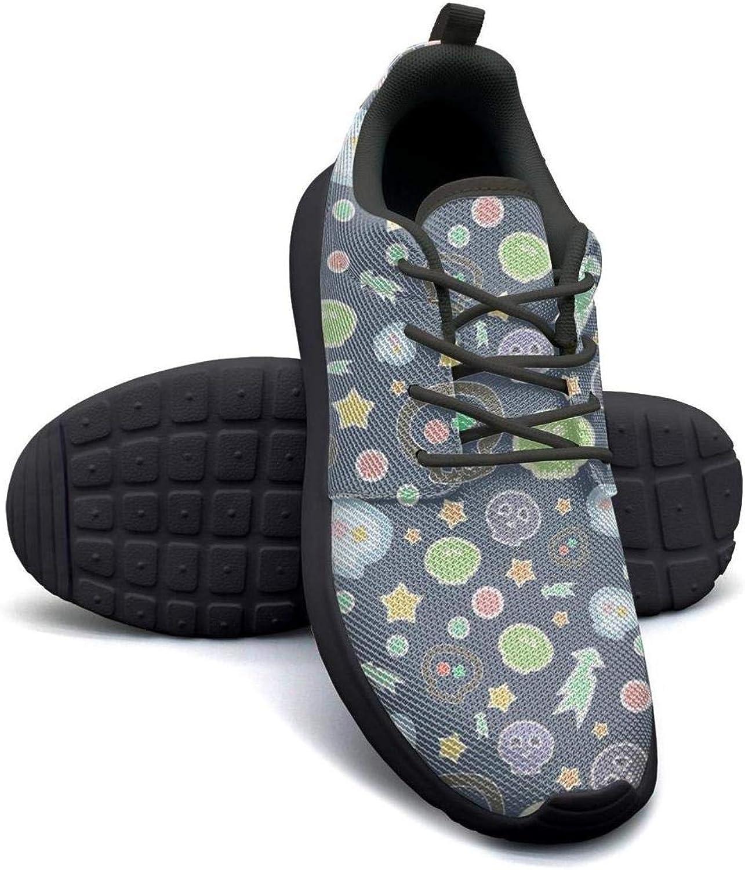 Gjsonmv Cute Skulls Bone mesh Lightweight shoes Women Comfortable Sports Hiking Sneakers shoes