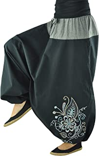 virblatt Trendy S-L Harem Pants for Women and Harem Pants for Men Made 100% Cotton
