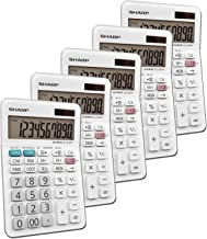 $60 » Sharp EL-330WB Standard Function Basic Desktop Calculator, Large Display, for Home and Office, Dual Power, Solar and Batte...