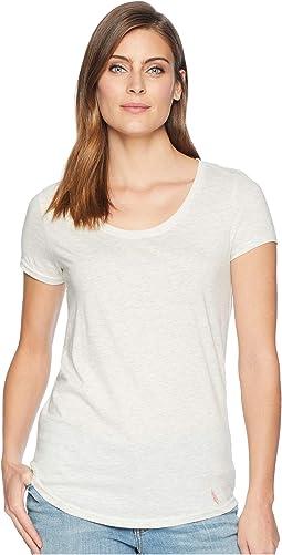 Soft Heather Scoop Neck T-Shirt