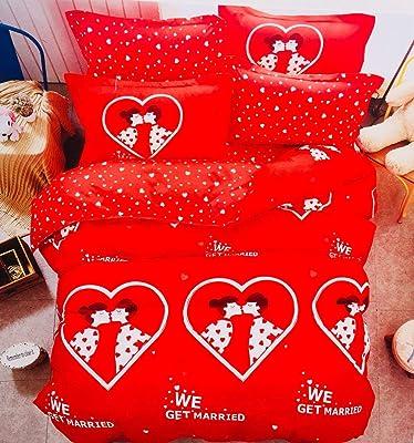 Berry Collection EMRALD Semi Polycotton AC Comforter Set- 1 AC Quilt Microfiber 230 x 250cm, 1 Bedsheet 230 x 250cm with 2 Pillow Covers (Pack of- 4 Piece Set) Color- Multicolor