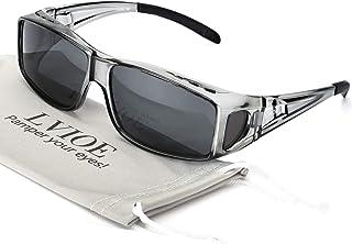 LVIOE Wrap Around Sunglasses, Polarized Lens Wear Over...