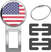journeyxl American Flag Emblem Decorative Seatbelt Jewelry Alarm Mute Silencer Stopper Universal