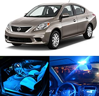 SCITOO LED Interior Lights 9pcs Ice Blue Package Kit Accessories Replacement Fits for 2012-2016 Nissan Versa