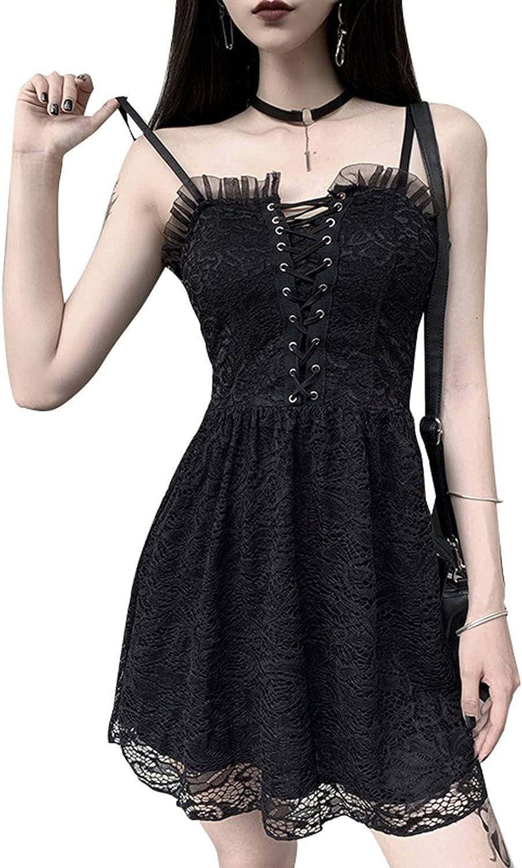 Black Goth Dress Lace Mini Sleeveless Dress Purple Lace Draped B
