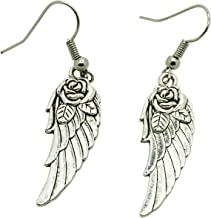 Libaraba Classic Tibetan Rose and Angel Wings Drop Earrings