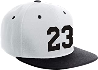 Classic Flat Bill Visor Snapback Hat Customized Color Player Team Number 0 to 99