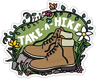 Take a Hike, Cute Outdoorsy Vinyl Stickers, Hiking, Camping, Nature Decals