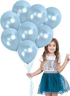 Khdz Blue Silver Balloons