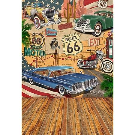 5x7ft Broken Car Wild Photography Background Computer-Printed Vinyl Backdrops