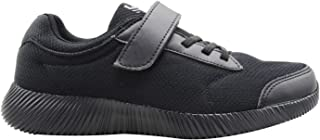 KazarMax SKUDO Boy's/Girl's (Unisex) Black Mesh with Superlight Weight Formal Black School Shoes (Made in India)