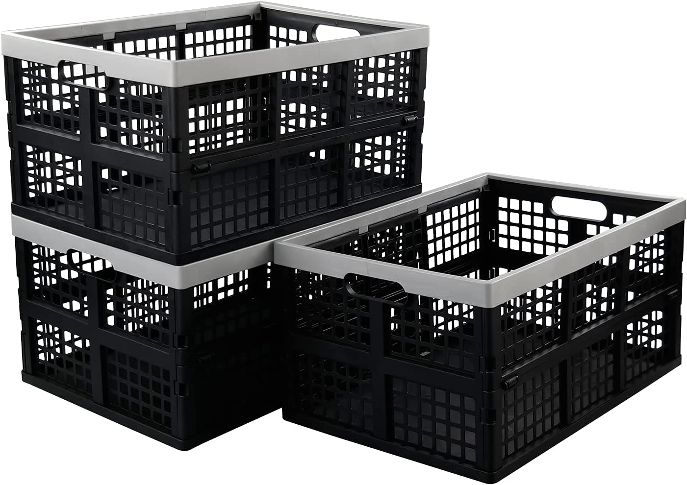 Xyskin 40 Max 86% OFF Liter unisex Large Plastic Storage Foldi Collapsible Baskets