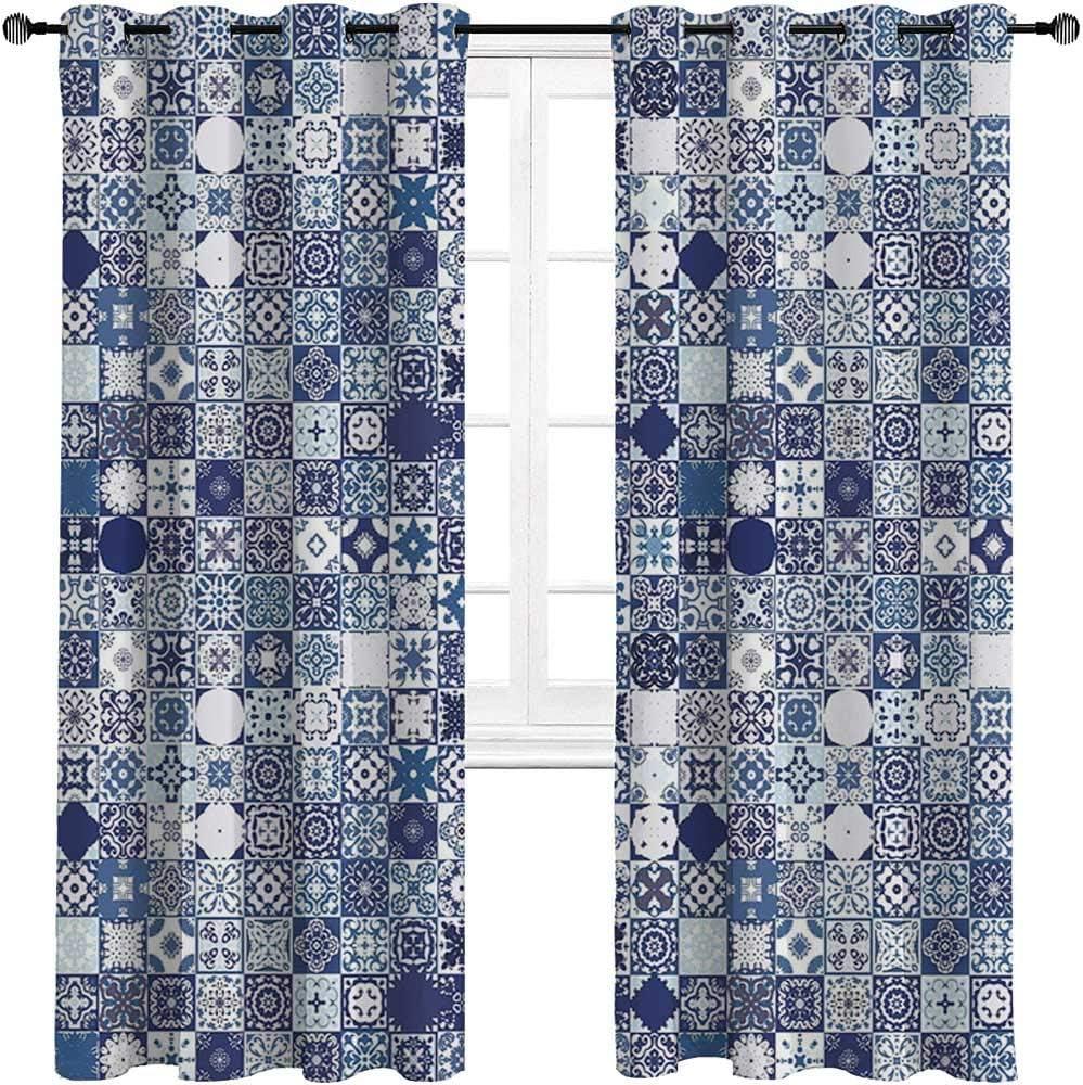 carmaxshome Moroccan Blackout Curtains 63 Length Super sale Patchwork List price inch