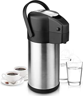 101 Oz Airpot Thermal Carafes, Stainless Steel Vacuum Pressure Insulated Coffee Dispenser with Pump, Thermos for Coffee Beverage Water, Heat and Cold Retention (3L)
