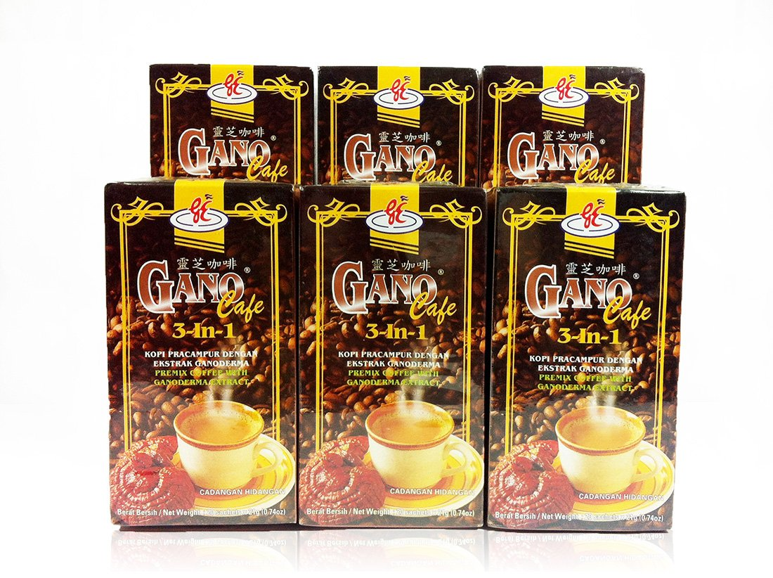 6 Safety and trust Choice boxes Gano Excel GanoCafe 3 With Ganoderma Extract 1 Coffee in