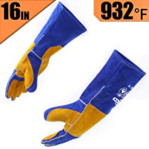 RAPICCA Leather Forge Welding Gloves Heat/Fire Resistant, Mitts for..