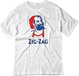 Men's Zig Zag Rolling Smoke Burn Papers Shirt