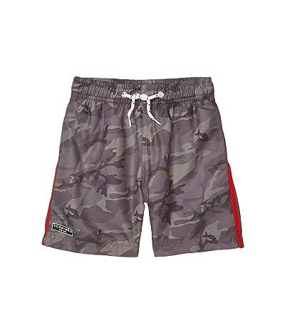 Toobydoo Olive Camo Classic Swim Shorts (Toddler/Little Kids/Big Kids) (Olive) Boy