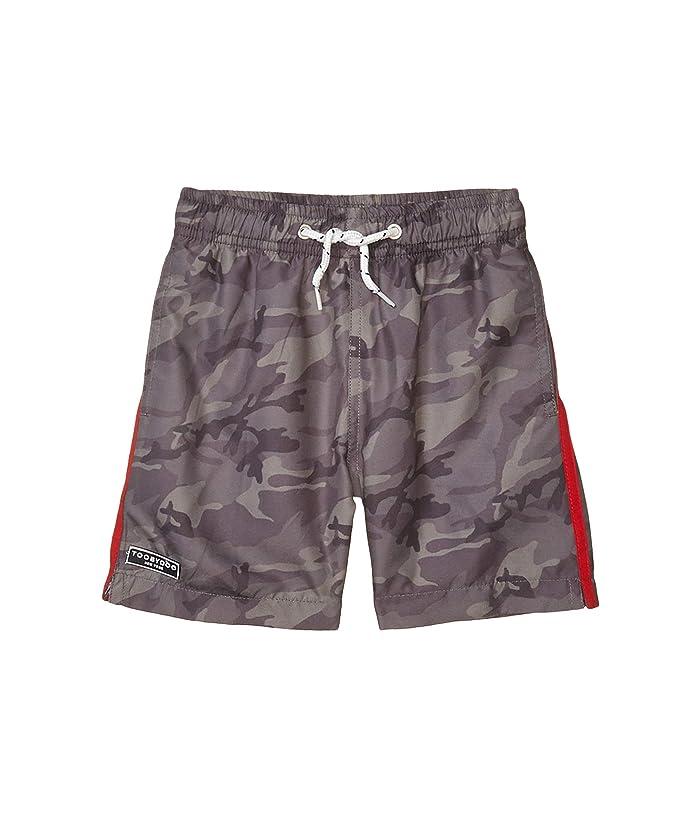Toobydoo  Olive Camo Classic Swim Shorts (Toddler/Little Kids/Big Kids) (Olive) Boys Swimwear