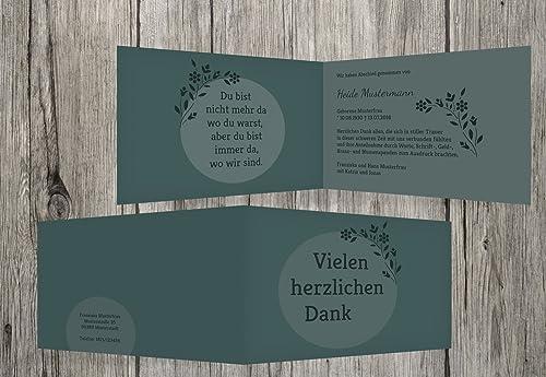 en stock Agradecimiento luto circular, dunklesgrisverde, dunklesgrisverde, dunklesgrisverde, 100 Karten  colores increíbles