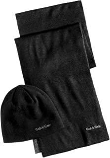 Calvin Klein Men's Reversible Hat & Scarf Set