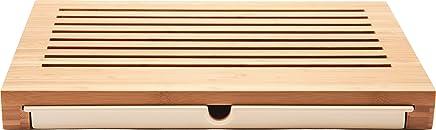 "Alessi""Sbriciola"" Bread Board in Bamboo Wood with Crumb Catcher in Thermoplastic Resin, Wood"