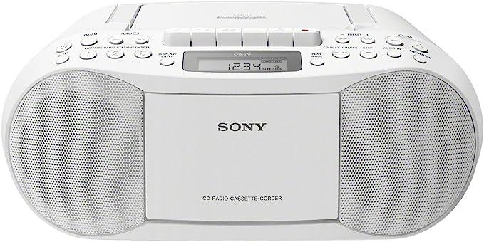 Sony Cfd S70 Boombox Cd Kasette Radio Weiß Sony Audio Hifi
