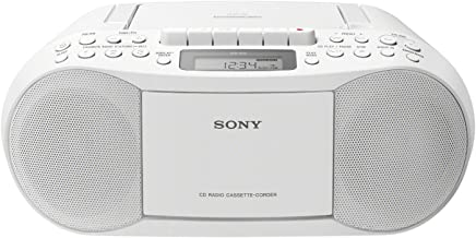 Sony CFD-S70, Boombox con CD, Casete y Radio, Blanco
