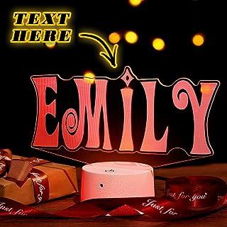 Personalized Engraved Name Letter Lamp Graffiti Light Up Table Desk Lamp Custom LED Night Light Gift for Kids Girlfriend B...