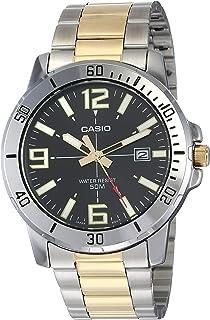 ساعة كوارتز ياباني كاجوال بسوار من الستانلس ستيل للرجال من كاسيو، ذهبي ، 20 (الموديل: MTP-VD01SG-1BV)