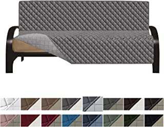 Easy-Going Futon Sofa Slipcover Reversible Sofa Cover Furniture Protector Couch Cover Water Resistant PetsKidsChildrenDogCat(Futon,Gray/Light Gray)