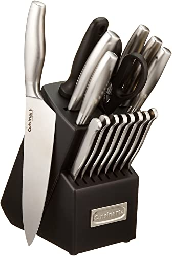wholesale Cuisinart C77SS-17P sale 17-Piece Artiste Collection Cutlery Knife 2021 Block Set, Stainless Steel outlet online sale
