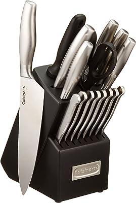 Cuisinart C77SS-17P Artiste Collection - Juego de cuchillos (17 piezas, acero inoxidable)