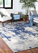 Jaipur Rugs Modern Ivory 8X10 Feet Wool and Bamboo Silk Abstract Rug and Carpet
