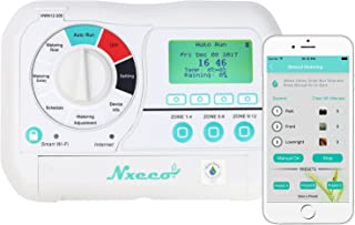 Smart Irrigation Sprinkler Controller NxEco HWN12-200, Smart Sprinkler Timer with EPA Water Sense, Weather Aware, Remote Access, 12 Zone, Works with Google Home and Alexa