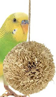 Bonka Bird Toys Small Husky Climb Roll cage Shred Toy Cages Nesting chew Play Parakeets Conures Quakers Animals Hamsters Gerbils Rabbit Guinea Pig Natural Corn husks Supplies