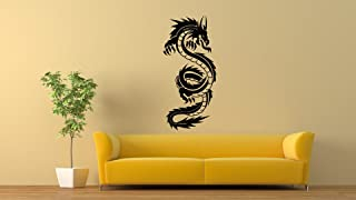 Wall Vinyl Stickers Japanese Fire Breathing Dragon Decals Tribal Tattoo Design Decals Home Decor Art Image DB0081