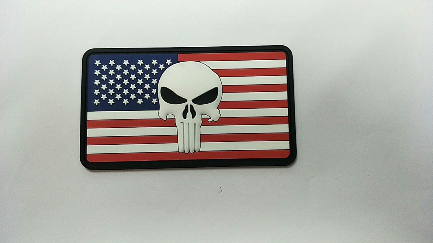 American USA Flag with Punisher Skull 3D PVC Morale Patch