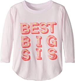 Extra Soft Vintage Jersey Best Big Sister Tee (Toddler/Little Kids)