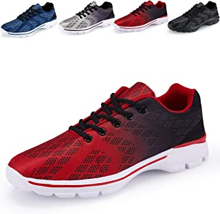 08c3453b4d6c35 Men s Lightweight Breathable Running Tennis Sneakers Casual Walking Shoes