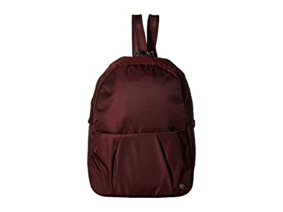 Pacsafe Citysafe CX Anti-Theft Convertible Backpack to Crossbody (Merlot) Backpack Bags