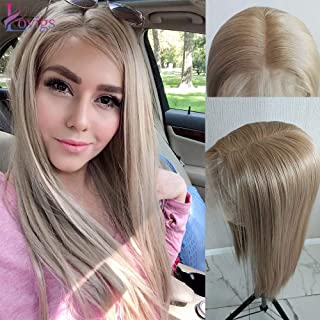 Lovigs Hair 13x6 Glueless Lace Front Wigs Heat Resistant Kanekalon Fiber Synthetic Hair Real Natural Straight Wigs for Women - 100% Stylish Blond Wigs (Color 103# Blonde 22 Inch)