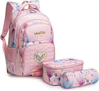 WindTook Kinderrucksack Schulrucksack 3-TLG Schultasche Teenager Rucksack Backpack Mädchen Jungen Kinder Schultaschen-Sets...