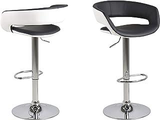 AC Design Furniture Jack Tabourets, Cuivre, Blanc noir, L: 48,5 x l: 54,5 x H: 104 cm