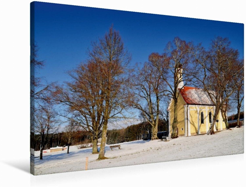 Calvendo Premium Textil-Leinwand 90 cm x 60 cm Quer Kapelle Maria Schnee, bei Mindelheim   Wandbild, Bild auf Keilrahmen, Fertigbild auf Echter Leinwand, Leinwanddruck Orte Orte B01L1UUI0Y eine breite Palette von Produkten   Offizielle