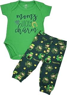 Boys 1st St Patricks Day Moms Lucky Charm Layette Set