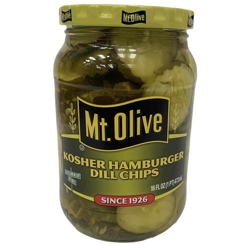 Mt. Olive Kosher Hamburger Chips oz Dill 16 Free shipping New Max 83% OFF