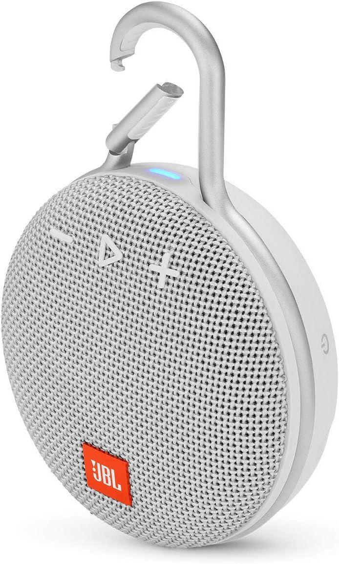 Amazon Com Jbl Clip 3 Portable Bluetooth Waterproof Speaker White Renewed Electronics